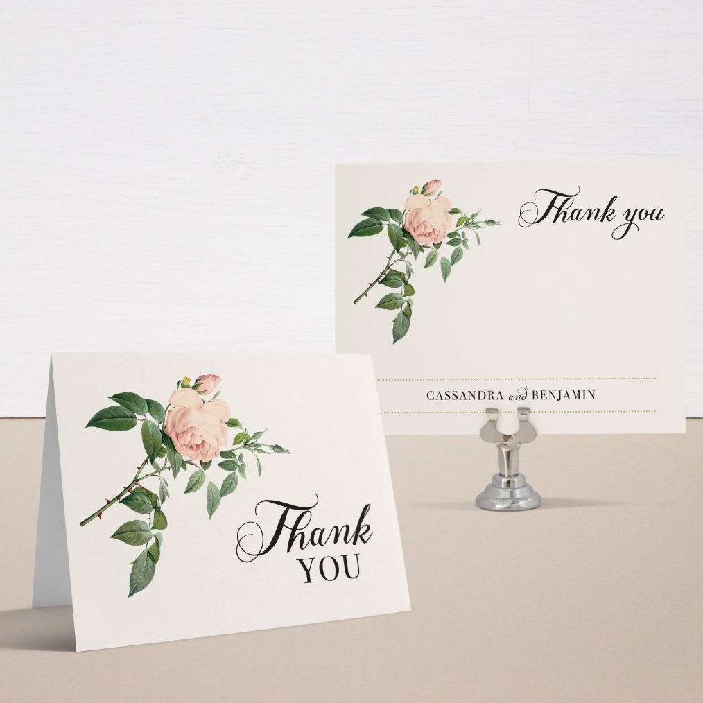 Ivory & Blush Thank You Cards