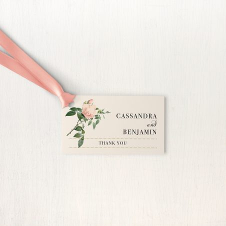 Ivory & Blush Favor Tags