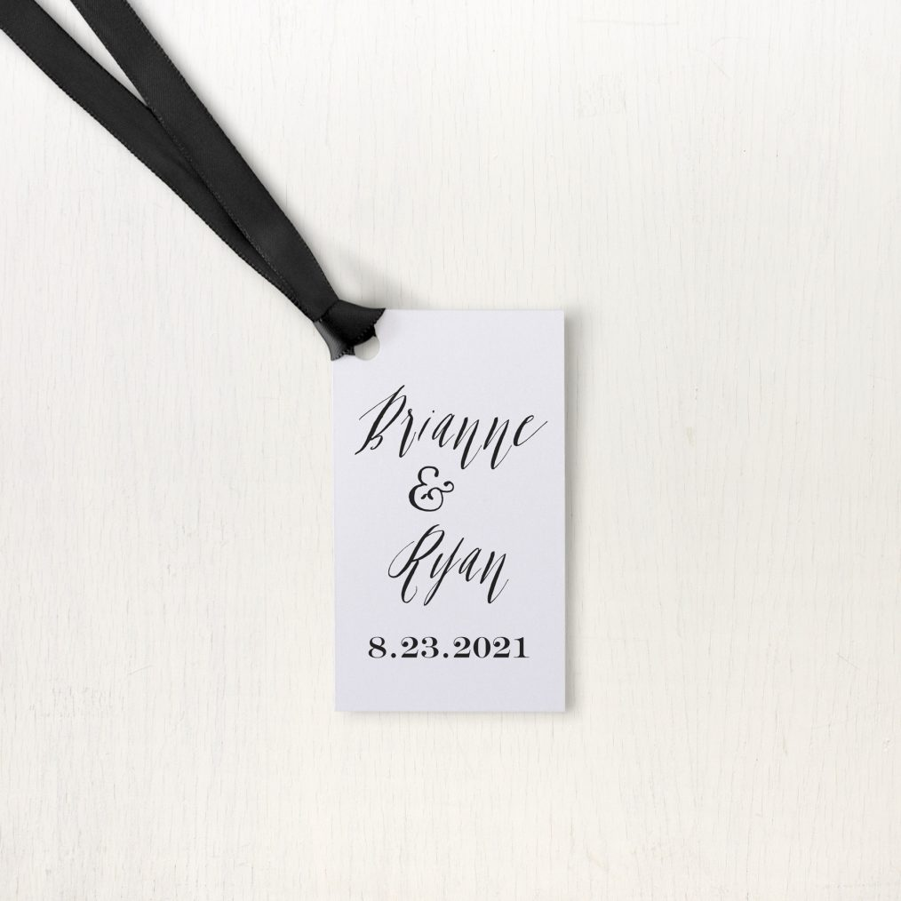 Modern Calligraphy Favor Tags