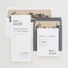 City Skyline Save the Dates