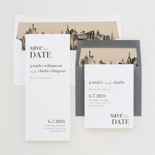 City Skyline Save the Dates