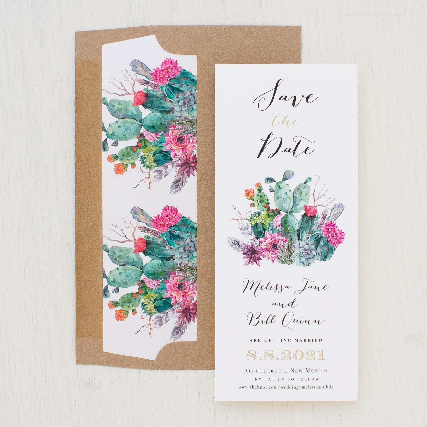Desert Blooms Save The Dates | Beacon Lane Invitations