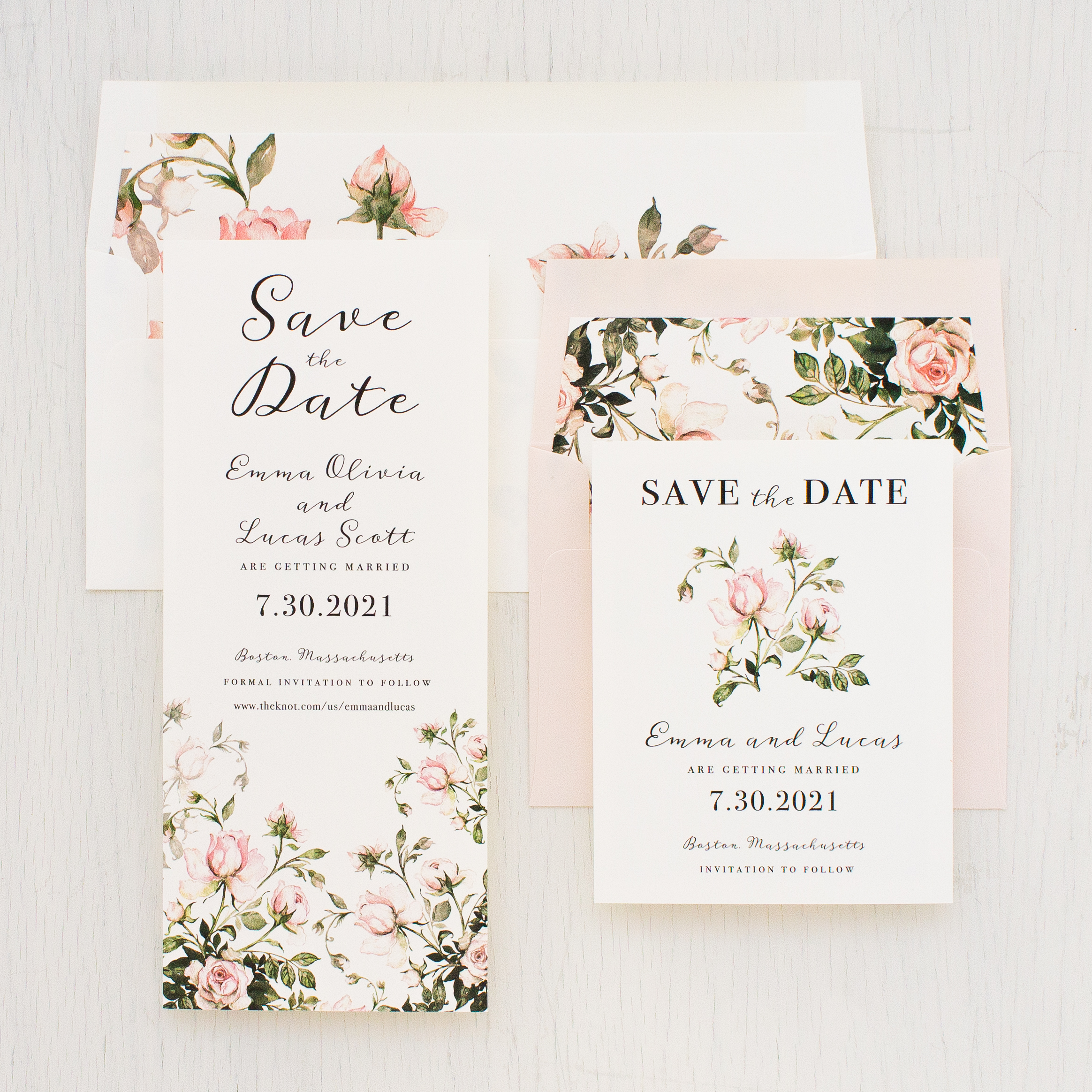 Garden Roses Save The Dates Beacon Lane