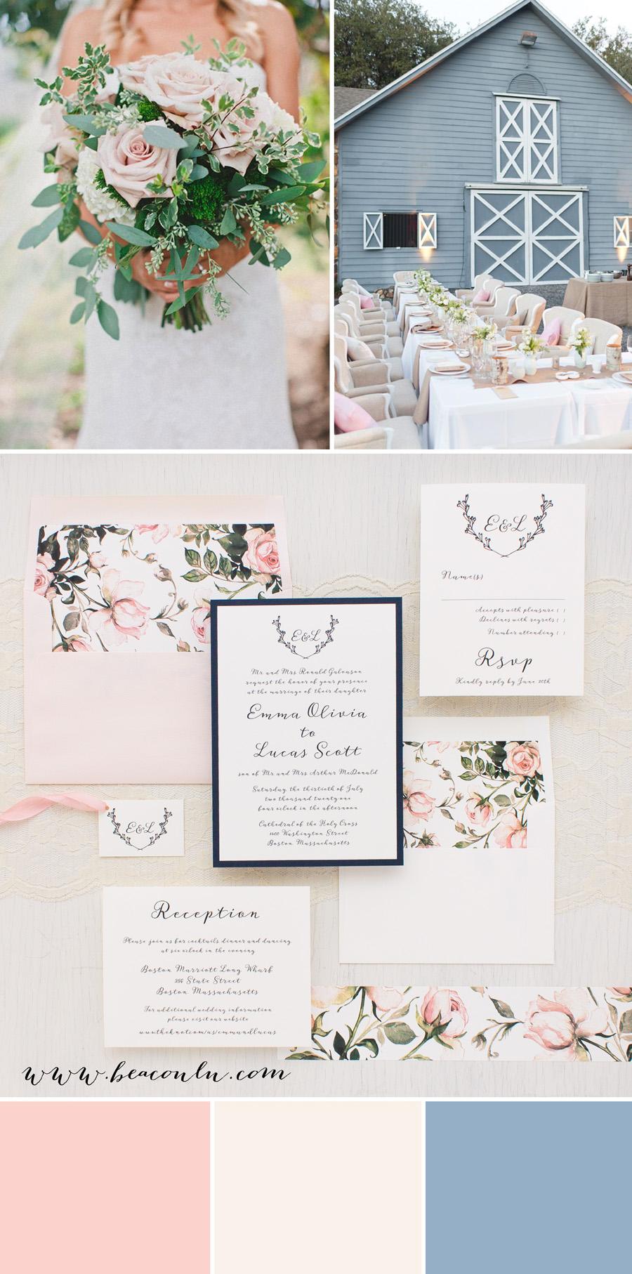 Garden Roses Wedding Invitations