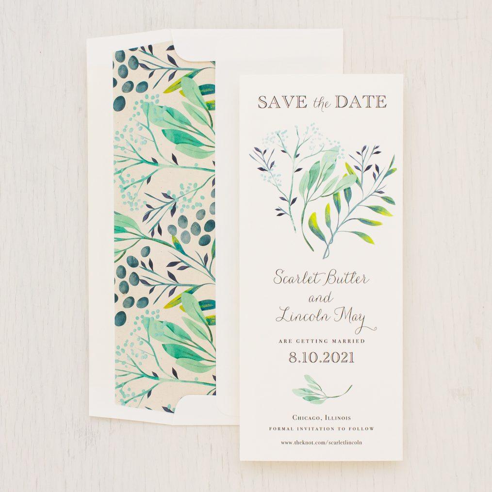 Navy Botanicals Save the Dates