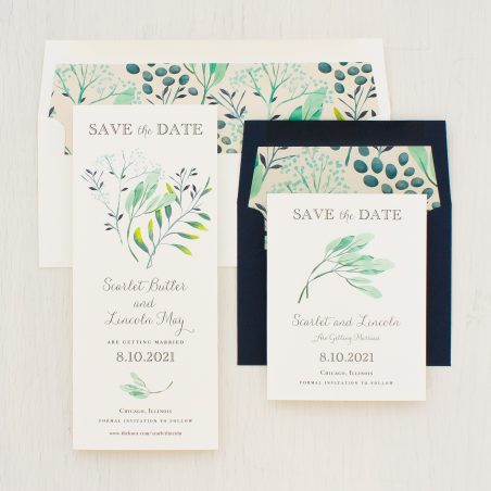 Navy Botanicals Save the Dates