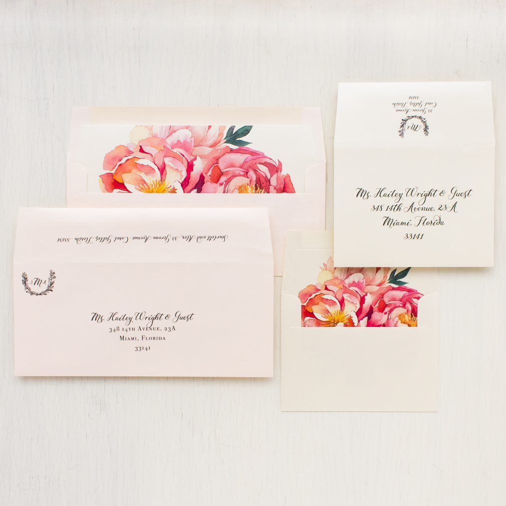 Pink Peonies Save the Dates