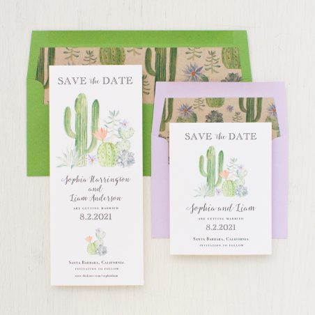 Sage Cactus Save the Dates