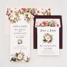 Soft Roses Save the Dates