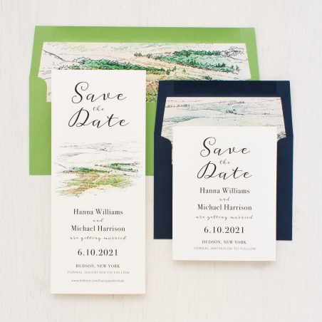 Winery Landscape Save the Dates