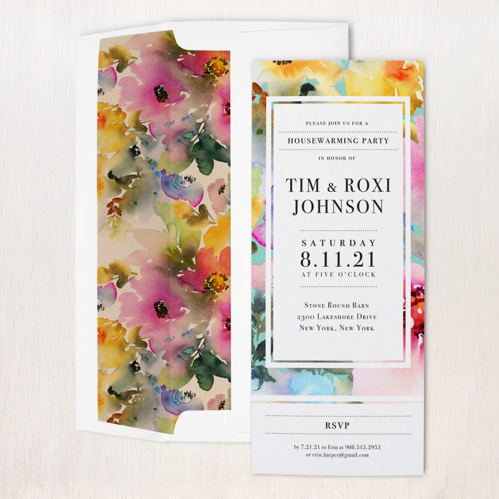 Abstract Watercolor #1 Party Invitations