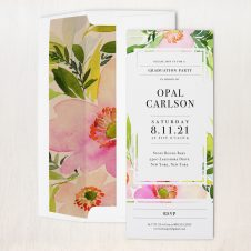 Blush and Coral Floral Party Invitations