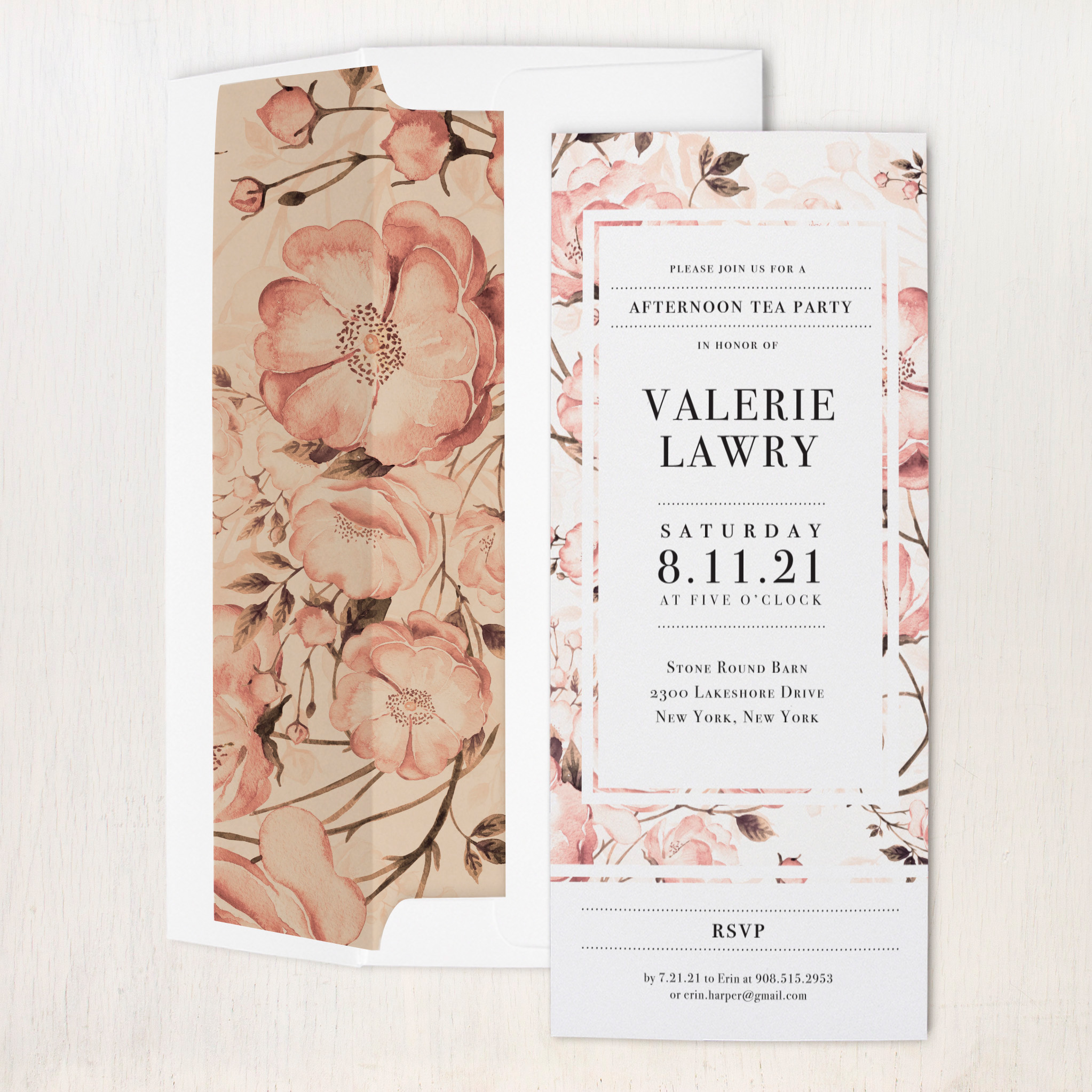 Blush Florals Party Invitations