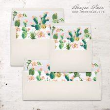 Blush Cactus Envelope Liners