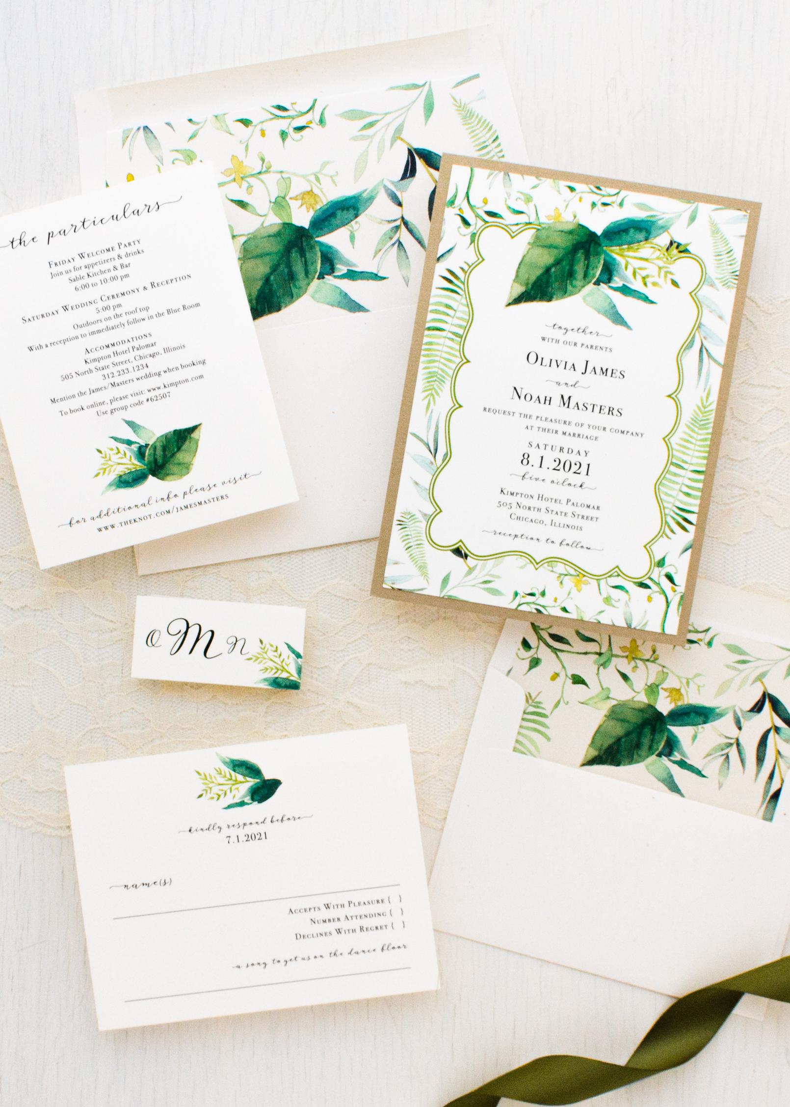 Botanical Garden Wedding Invitations | Beacon Lane
