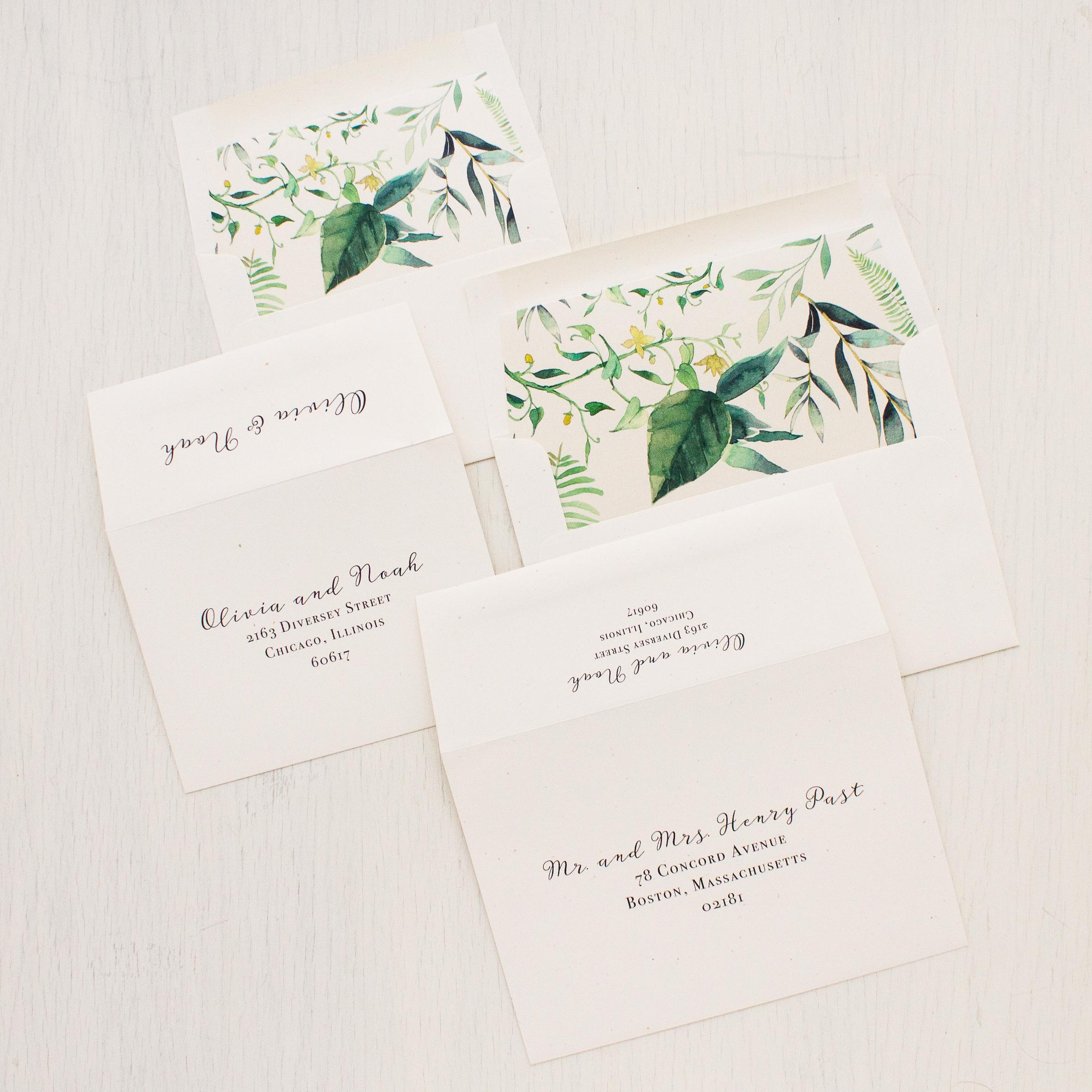 Botanical Garden Wedding Invitations