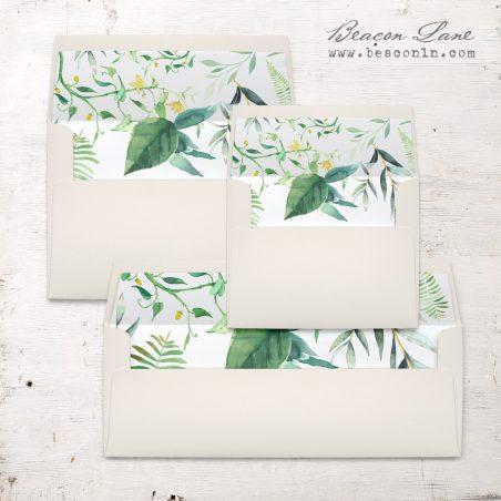 Botanical Garden Envelope Liner