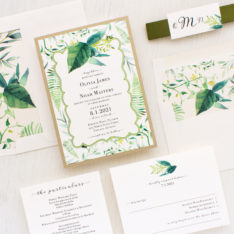 Simple greenery and gold wedding