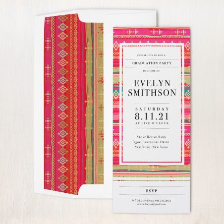 Bright Pattern Party Invitations