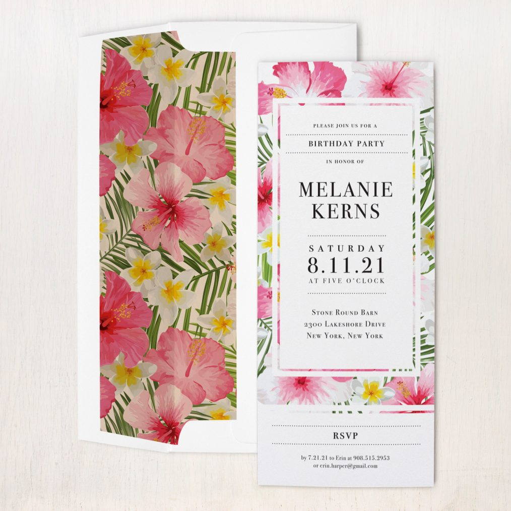 Bright Tropical Party Invitations