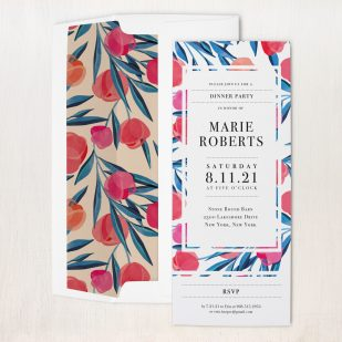 Bright Tulip Dinner Party Invitations