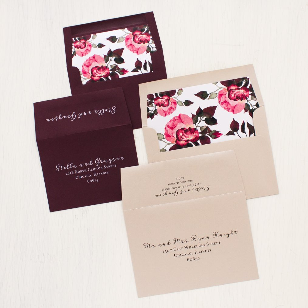 Burgundy Rose Wedding Invitations