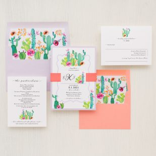 Cactus Love Wedding Invitations