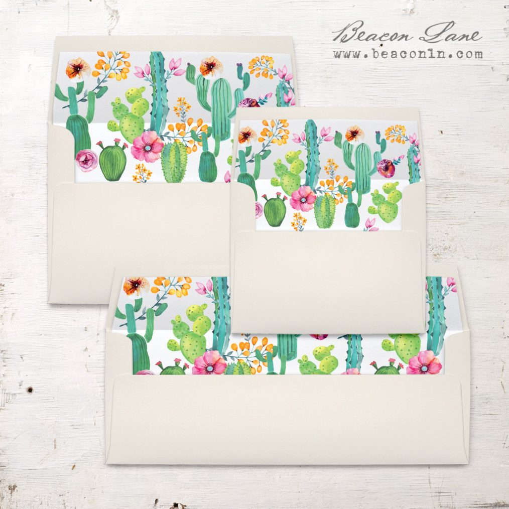 Cactus Love Envelope Liners
