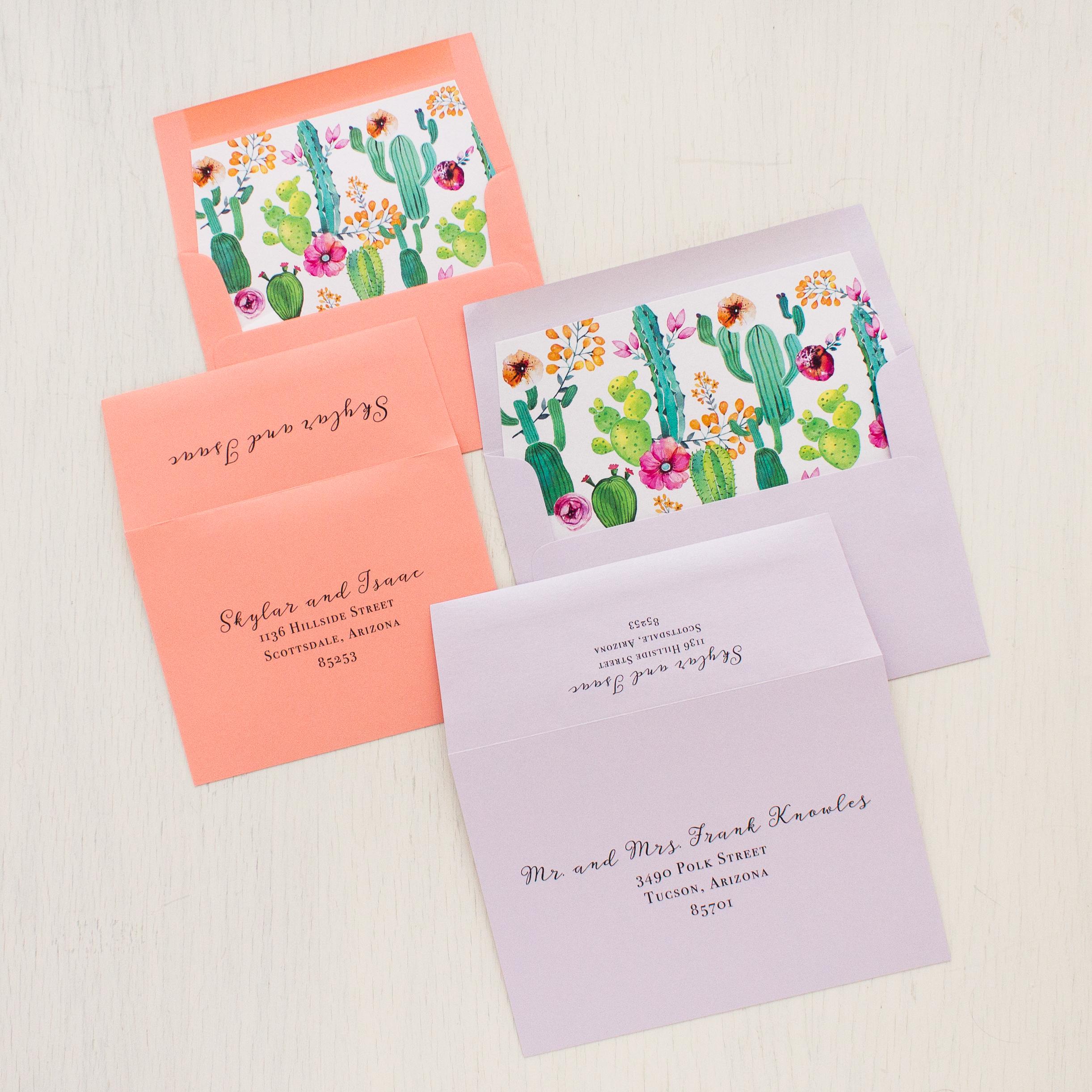 Cactus Love Wedding Invitations
