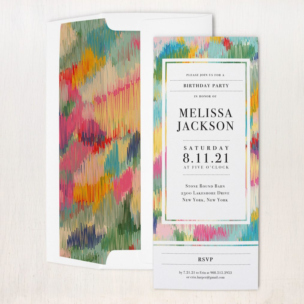 Color Theory Party Invitations