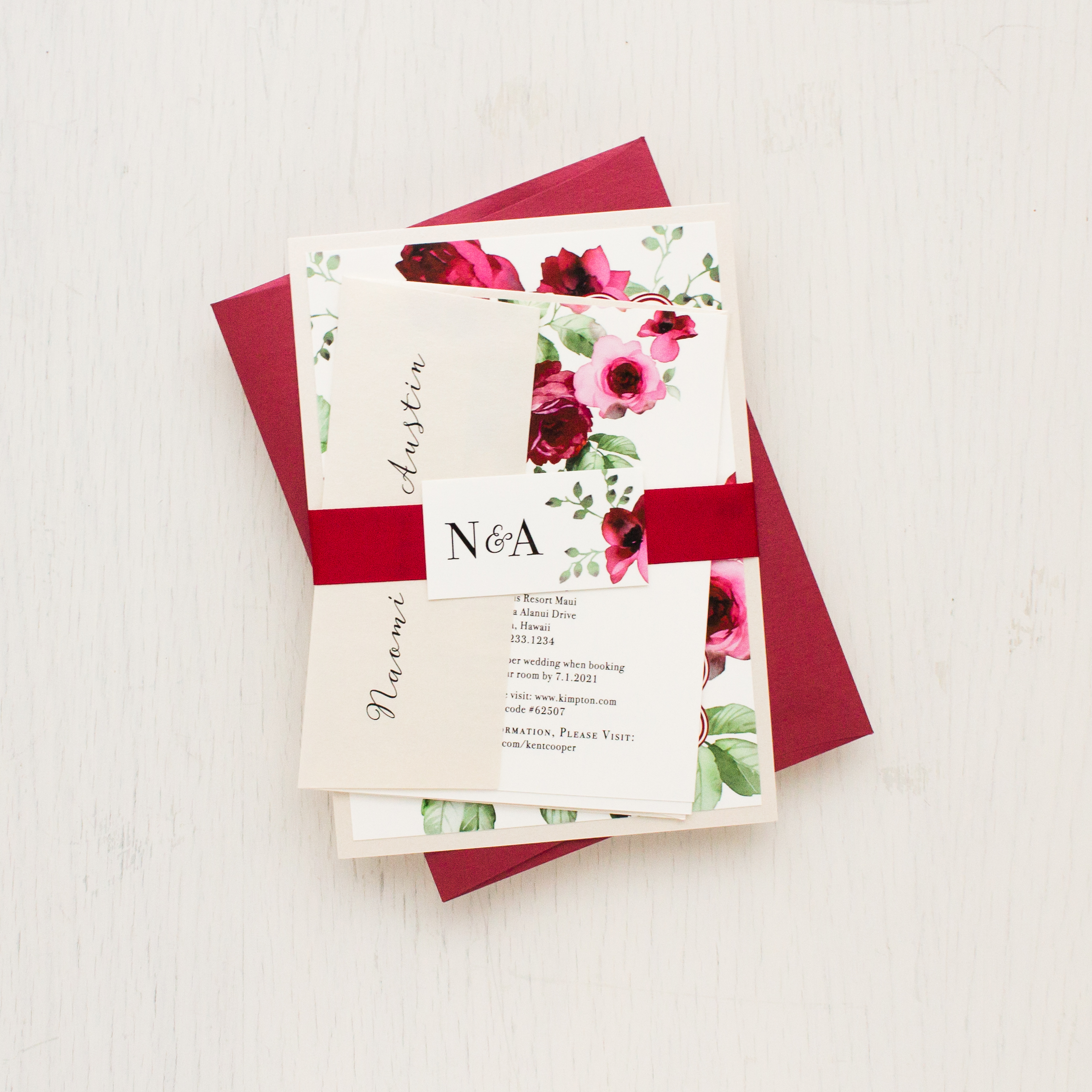 Cranberry Crush Wedding Invitations | Beacon Lane