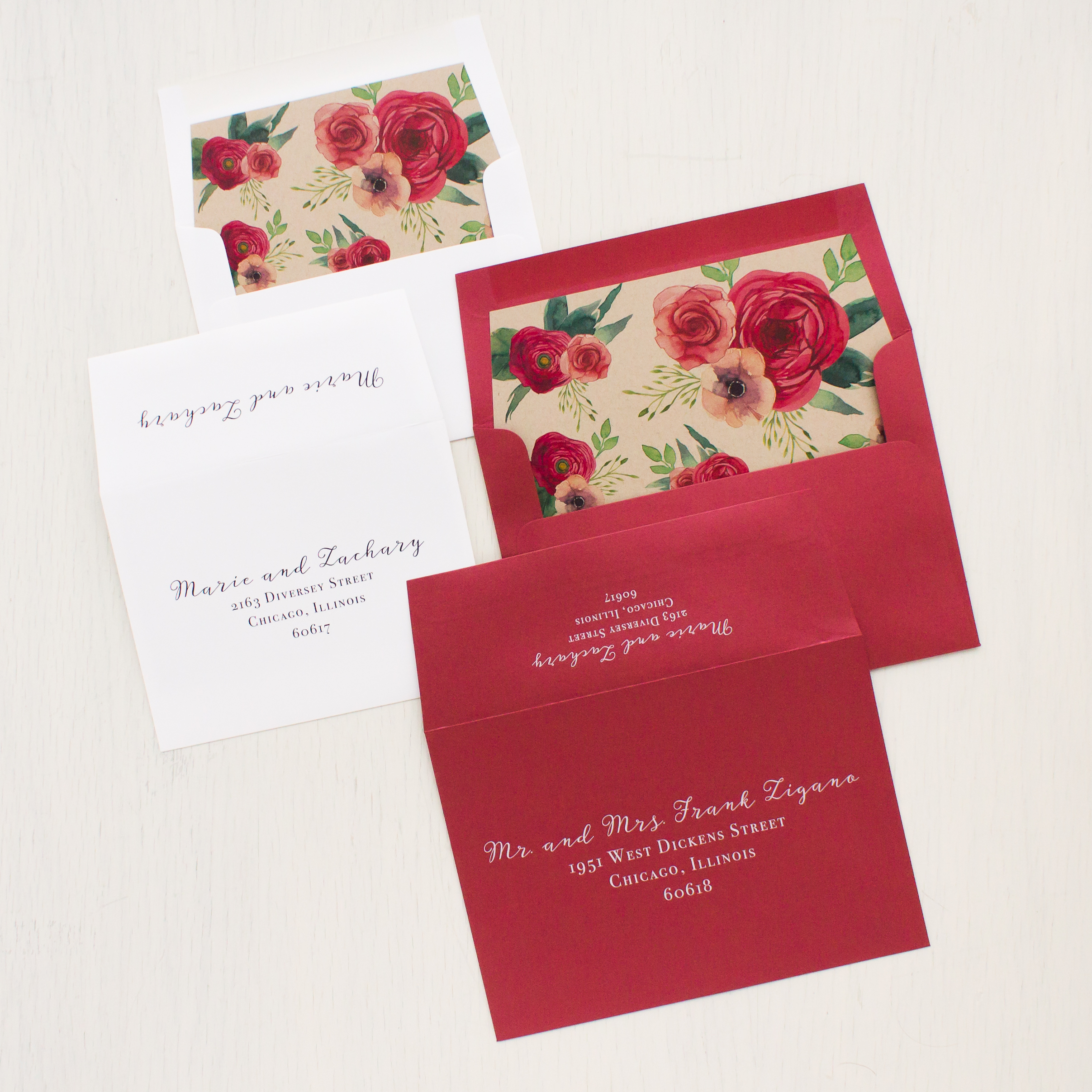 Deep Red Roses Wedding Invitations | Beacon Lane