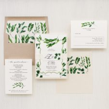 Eucalyptus Green Wedding Invitations