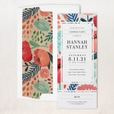 Floral Garden Party Invitations