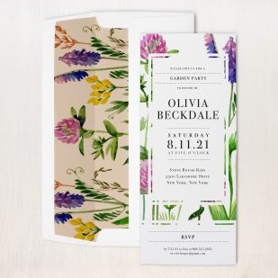 Green Garden Party Invitations