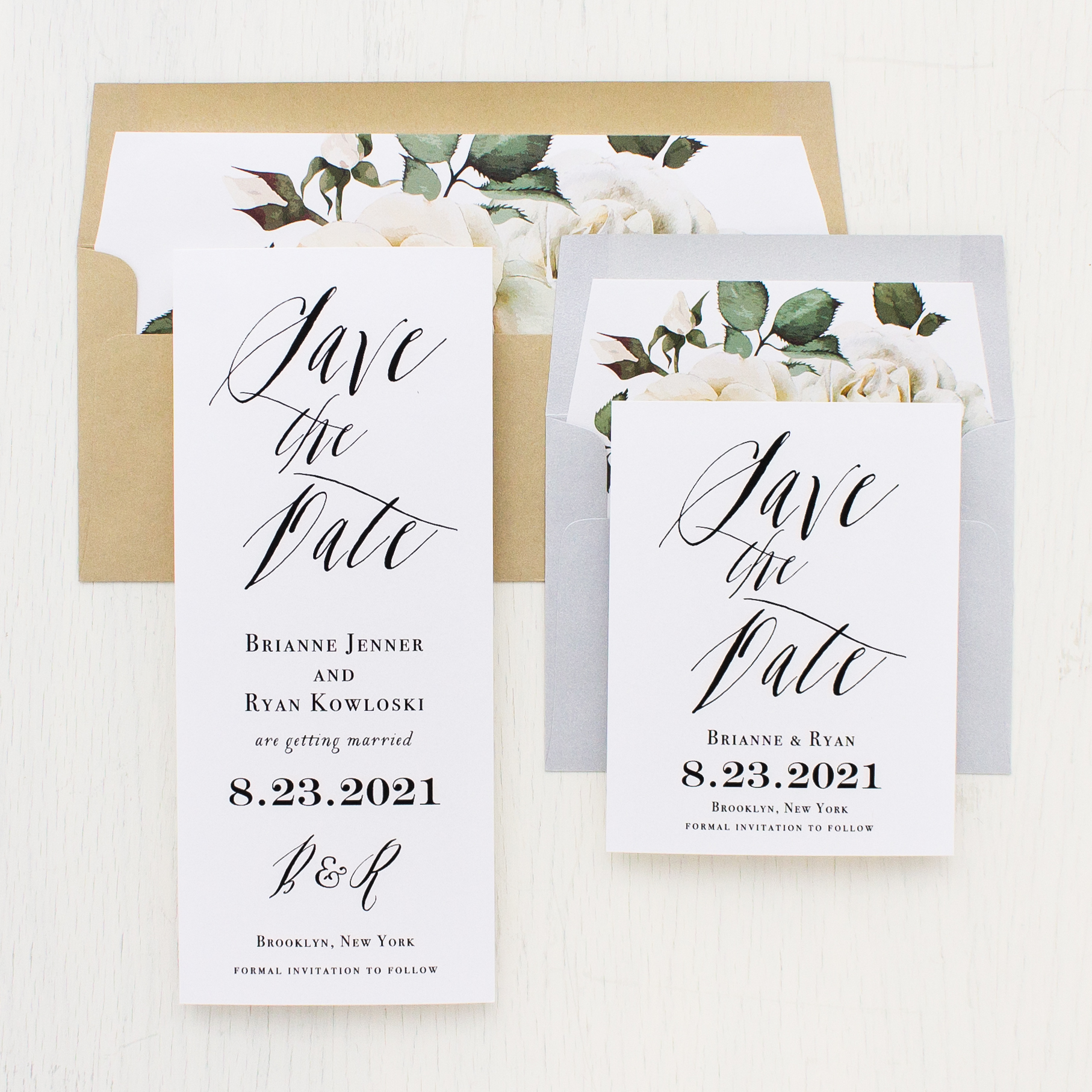 Modern Calligraphy Save The Dates