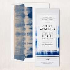 Indigo Dye Party Invitations