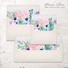 Lilac Succulent Envelope Liners