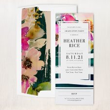 Painted Floral Party Invitations