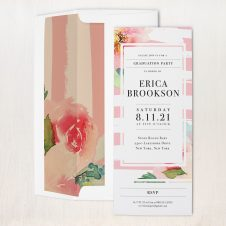 Painted Floral #2 Party Invitations