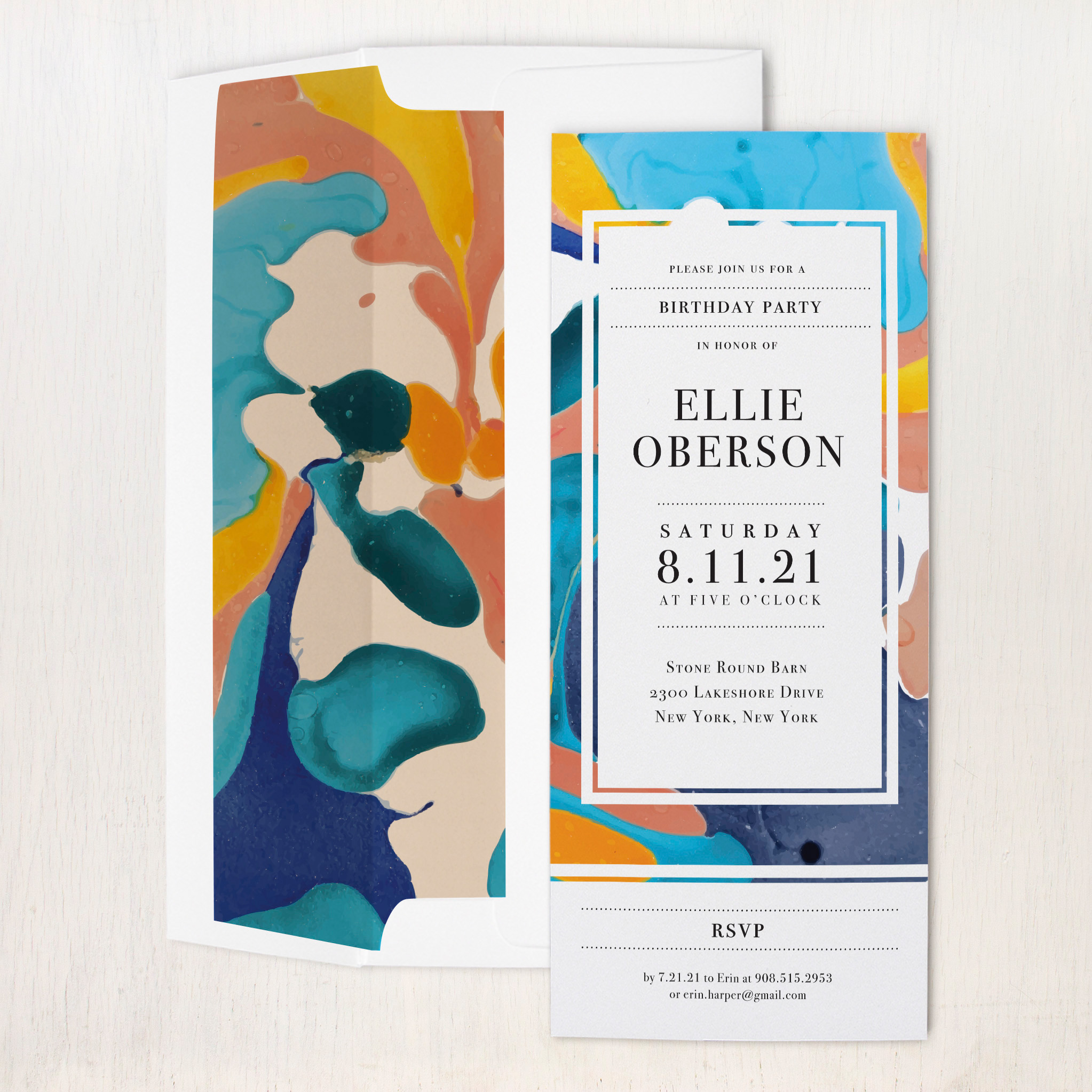 Painterly Party Invitations