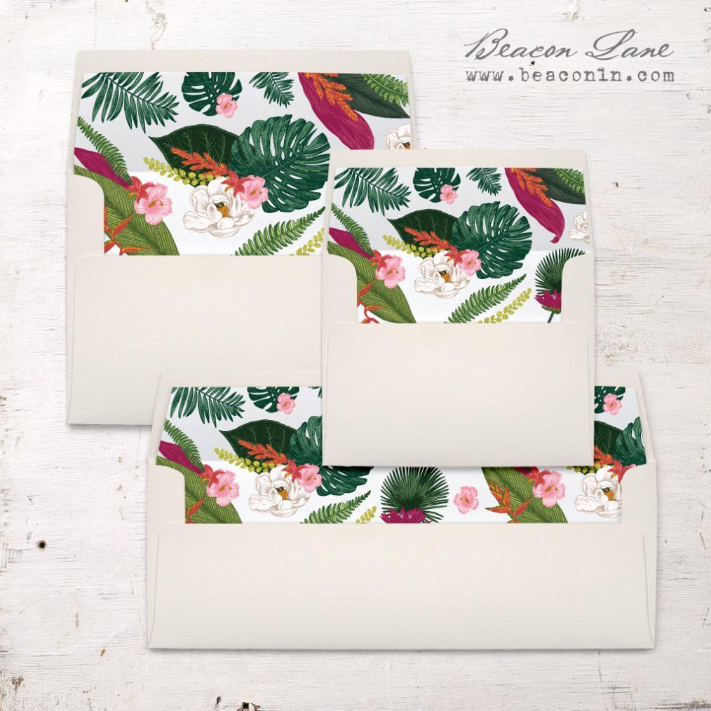 Palm Leaf Envelope Liners