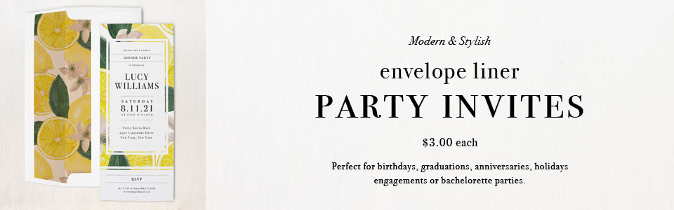 Blank Party Menu