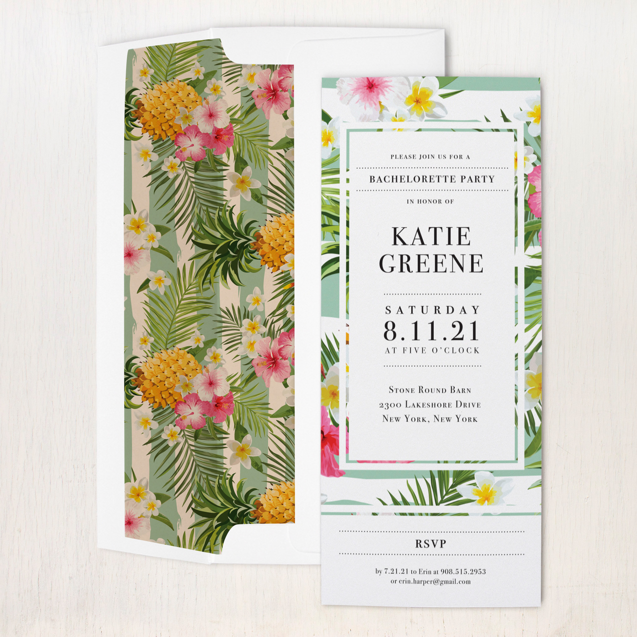 Pineapple Party Party Invitations