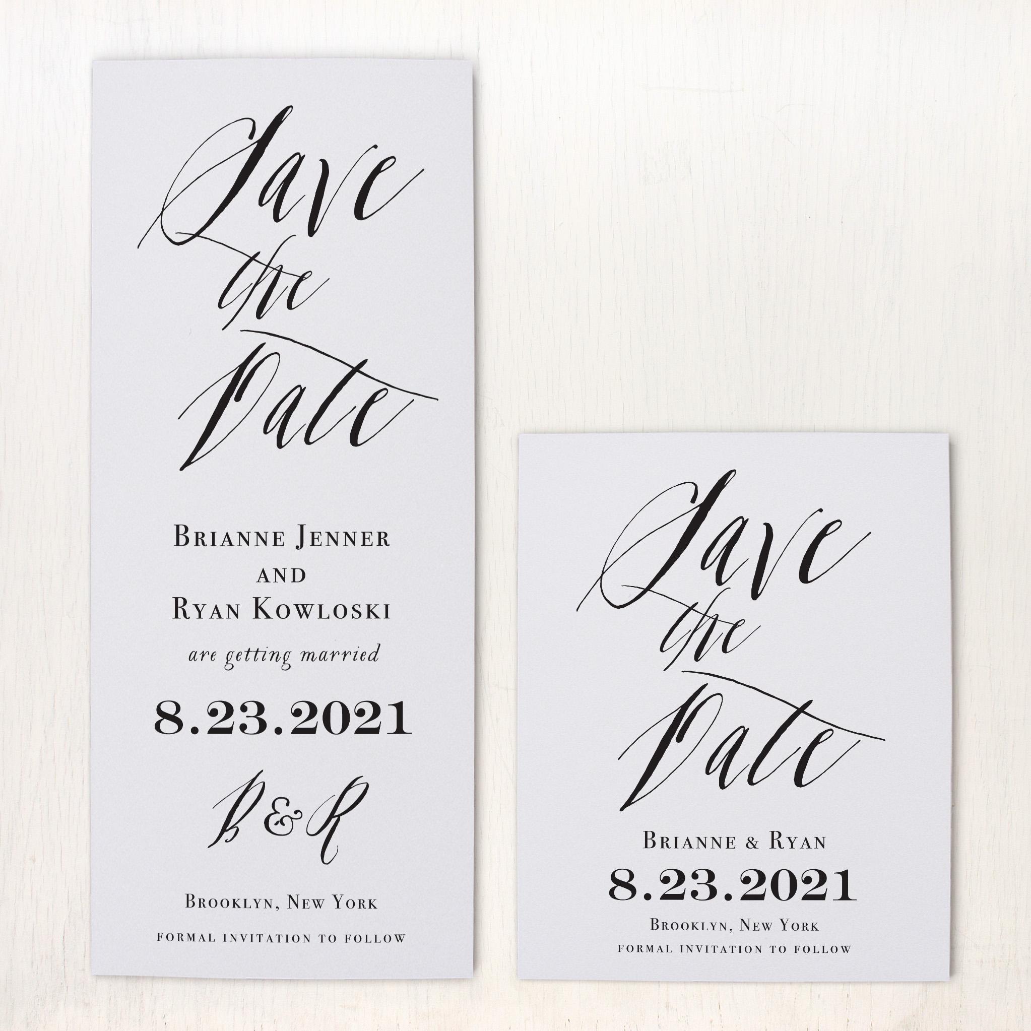 Modern Calligraphy Save The Dates Beacon Lane