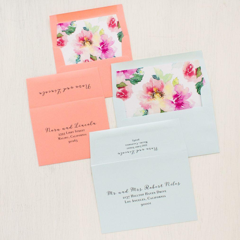 Seafoam Floral Wedding Invitations
