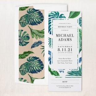 Tropical Ocean Birthday Party Invitations