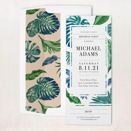 Tropical Ocean Party Invitations