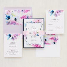 Vintage Lavender Wedding Invitations