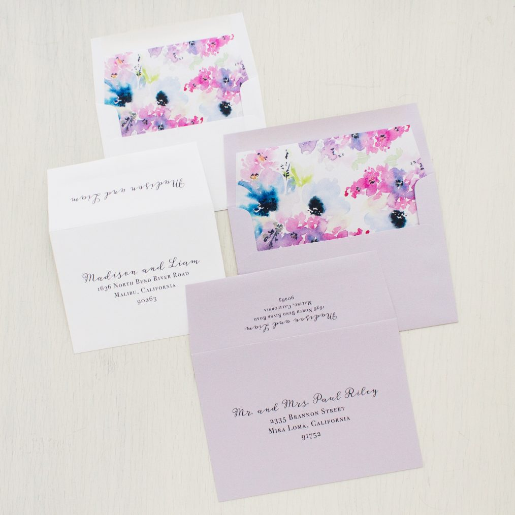 Vintage Lavender Wedding Invitations
